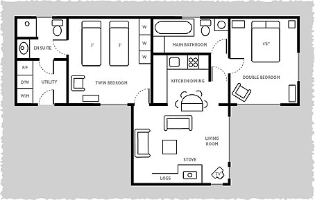 Plan View Of Solway Spray At Carrick Shore Holiday Chalets